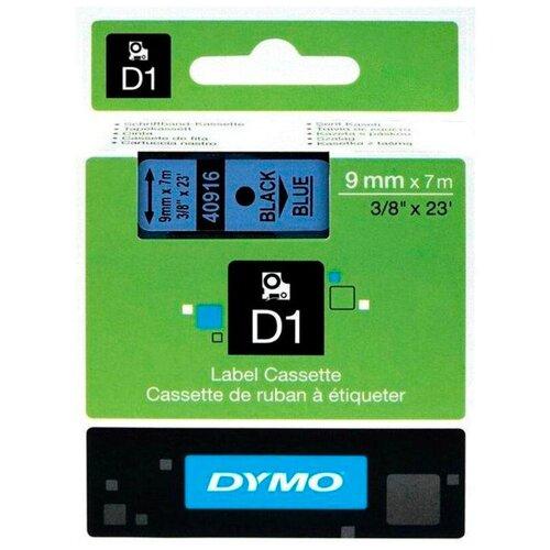Картридж ленточный Dymo D1 S0720710 черныйголубой для Dymo