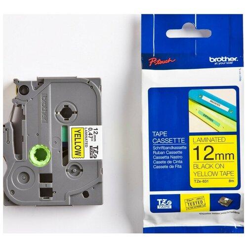 Фото - Картридж к этикет-принтеру Brother TZe-631 12ммх8м чер/жел лам. для P-Touch картридж для принтера этикеток brother арт tze 253 24 мм