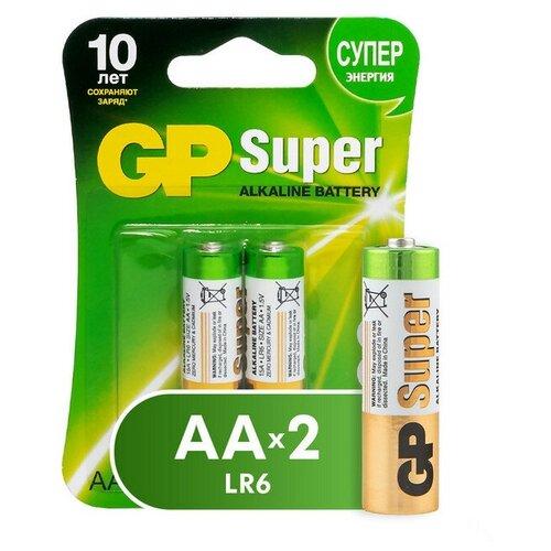 Фото - Батарейки GP Super AA/LR6/15A GP15A-2CR2 алкалин. бл/2 3 шт. батарейки lr6 aa щелочные 10 шт