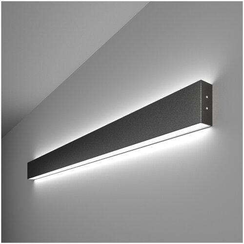 Линейный светодиодный накладной двусторонний светильник 103см 40Вт 6500К черный Elektrostandard Pro Линейный светодиодный накладной двусторонний светильник 103см 40W 6500K черная шагрень (101-100-40-103)