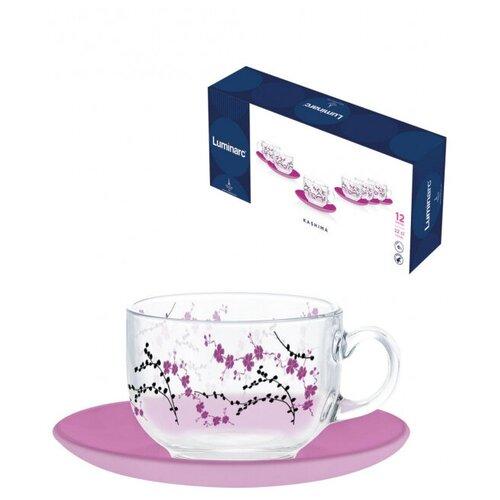 Фото - Сервиз чайный кашима пурпл 12 предметов 220мл (N3627) чайный набор luminarc брашмания оранж 12 предметов 220мл p8984