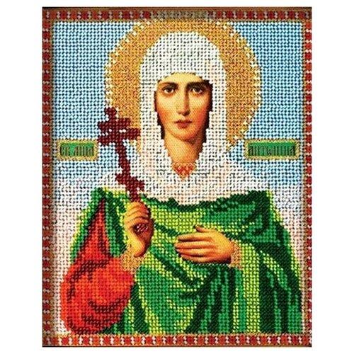 В308 Набор для вышивания бисером 'Кроше' 'Св. Антонина', 12х14,5 см