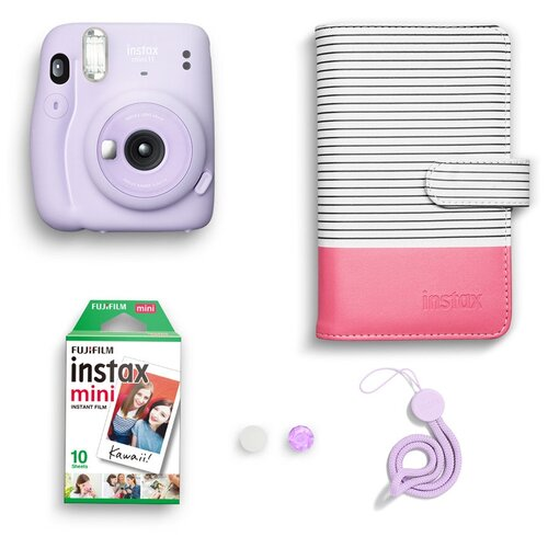 Фото - Фотоаппарат моментальной печати Fujifilm Instax MINI 11 Purple Geometric Set, с альбомом и кассетой 10л. geometric pattern floor mat