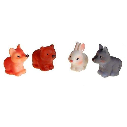 Купить Огонёк Набор резиновых игрушек «Лесные звери», ОГОНЁК, Игрушки для ванной