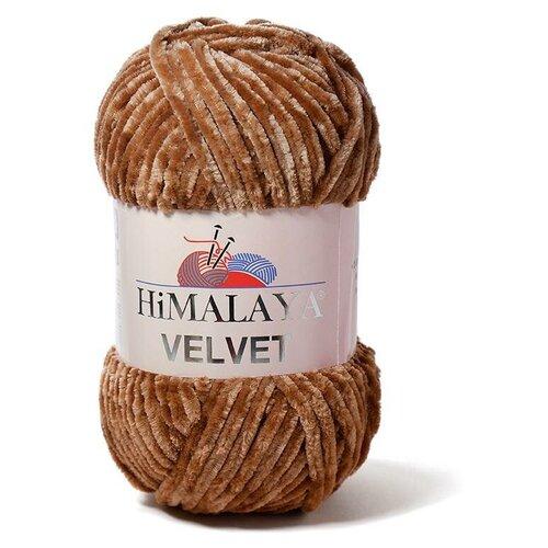 Пряжа Himalaya Velvet (Вельвет) 90037 светло-коричневый 100% полиэстер 100г 120м 5шт