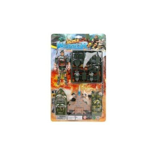Набор Военный, фигурка 1шт., тран.средство 3шт., аксессуары Shantoy Gepay A116