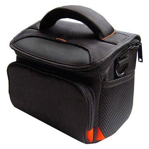 Чехол-сумка MyPads TC-1522 для фотоаппарата Olympus DZ-105/E-1/E-3/ E-30/E-300/E-330/E-400/E-410/E-420/E-450/E-5 из качественной износостойкой влагозащитной ткани черный