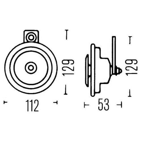 Звуковой сигнал Hella 3BA 002 768-551