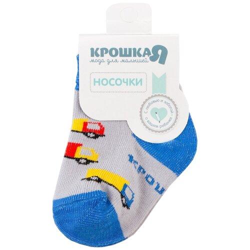 Носки Крошка Я Грузовики размер 6-8см, серый