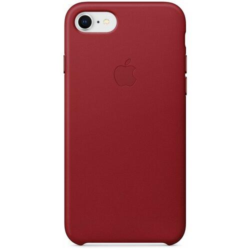 кожаный чехол apple leather case для iphone 8 7 цвет product red красный mqha2zm a Чехол-накладка Apple кожаный для iPhone 7/iPhone 8/iPhone SE (2020) (PRODUCT)RED