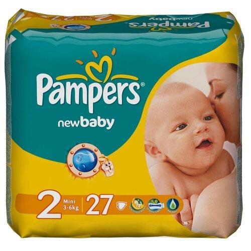 Фото - Pampers подгузники New Baby 2 (3-6 кг), 27 шт. pampers подгузники new baby dry 1 2 5 кг 27 шт