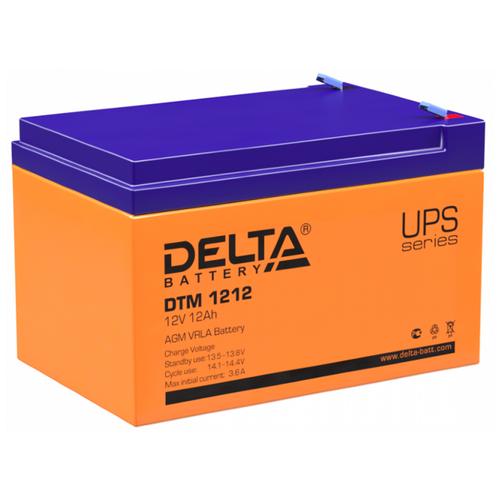 Фото - Аккумуляторная батарея DELTA Battery DTM 1212 12 А·ч аккумуляторная батарея delta battery gel 12 33 33 а·ч