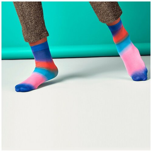 Носки для девушек Hysteria Mia Print Ankle - Blue/Pink/Red 36-41