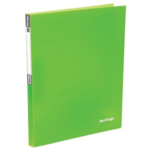 Фото - Berlingo Папка с 40 вкладышами Neon A4, пластик Неоновый зеленый berlingo папка с 20 вкладышами neon a4 14 мм 700 мкм пластик зеленый