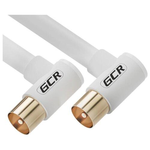 Кабель GCR TV (угловой) - TV (угловой) (GCR-CTV3) белый 3 м