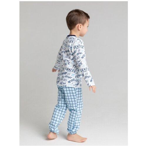 Пижама: Джемпер, брюки КотМарКот, 2691232 (размер 86, цвет Белый) пижама double trouble белый оранжевый 86 размер