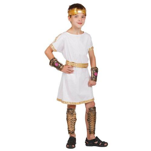 Костюм Маскарад у Алисы Греческий мальчик, белый, размер 32(128) костюм маскарад у алисы восточный принц коричневый размер 32 128