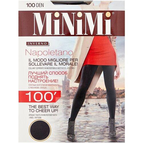 Колготки MiNiMi Napoletano, 100 den, размер 5-XL, carbone (серый)