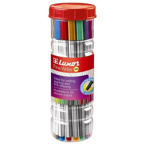 Фото - Luxor Набор капиллярных ручек Fine Writer 045, 20 цветов, 0,8 мм luxor набор капиллярных ручек fine writer 045 0 8 мм 10 шт черный цвет чернил