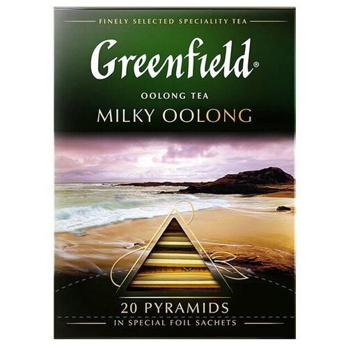Чай улун Greenfield Milky Oolong в пирамидках, 20 шт. чай черный greenfield sicilian citrus в пирамидках 20 шт