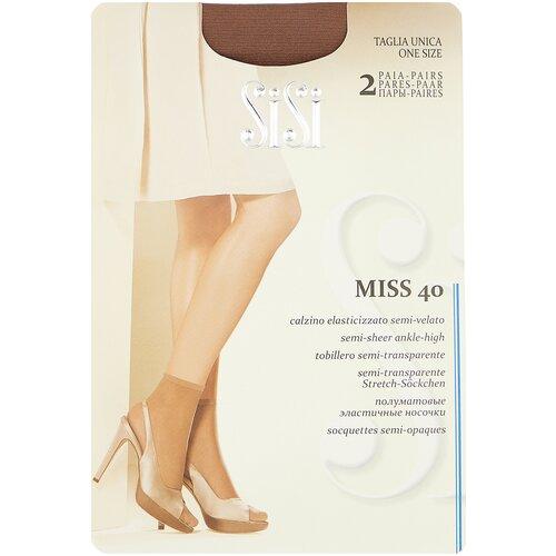 Капроновые носки Sisi Miss 40 Den New, 2 пары, размер 0 ( one size), daino