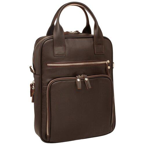 Деловая сумка вертикальная Waley Brown