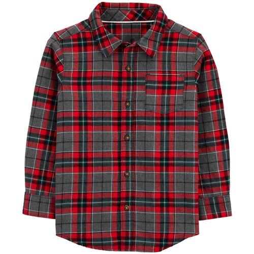 Рубашка Carter's размер 5, red/grey