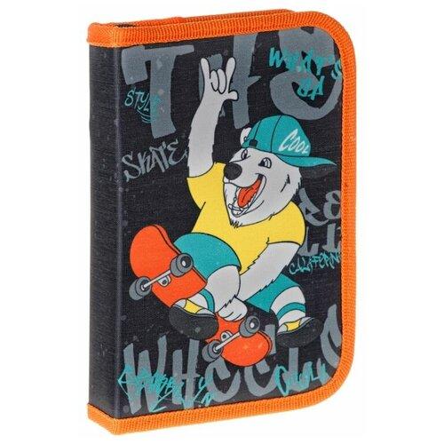 Купить ArtSpace Пенал Skate (ПТ1_29080) черный/оранжевый, Пеналы