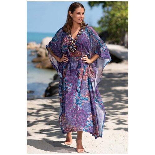 Пляжная туника MIA-AMORE Ibiza, размер 2XL/3XL, фиолетовый