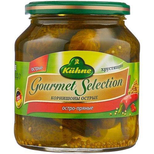 Корнишоны острые Gourmet Selection Kuhne, 530 г перчики чили острые без содержания масла kuhne 330 г