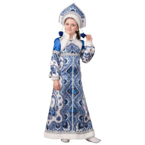 Купить Костюм Батик Снегурочка Варвара (1950), синий/белый, размер 146, Карнавальные костюмы