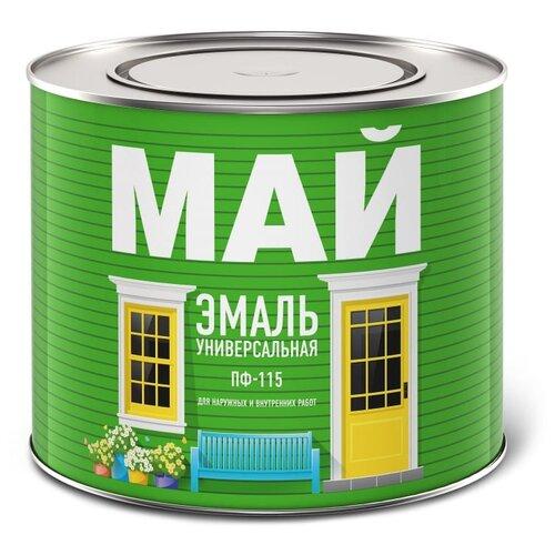 Эмаль алкидная (А) Ярославские краски МАЙ ПФ-115 Универсальная белая 1.9 кг