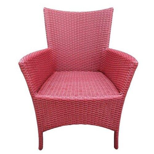 Кресло Кипр, плетеное из искусственного ротанга красное дерево