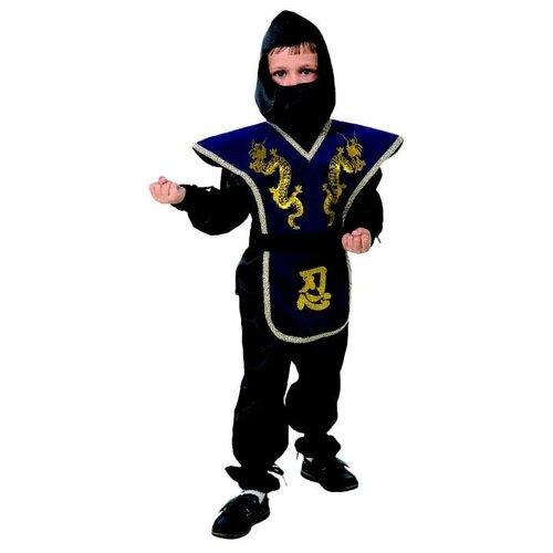 Купить Костюм Батик Ниндзя (7028-1/7028-2), синий/черный, размер 146, Карнавальные костюмы