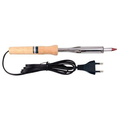 Паяльник, 100 Вт, 220 В, деревянная ручка KING TONY 6BC210A паяльник электрический proconnect 12 0175 4 40 вт 220 в деревянная ручка