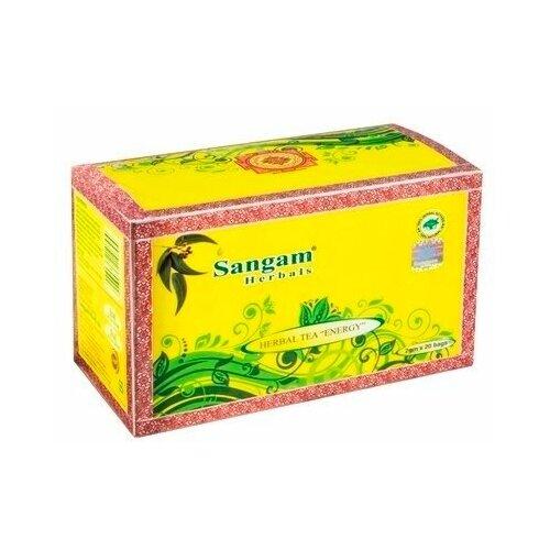 Чай травяной Sangam Herbals Energy в пакетиках, 20 шт. чаванпраш джем sangam herbals
