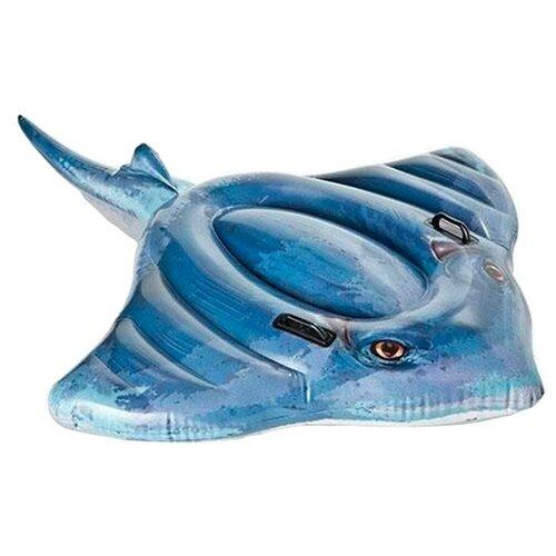 Фото - Надувная игрушка-наездник Intex Скат 57550 синий игрушка наездник надувная intex черепаха с ручками intex 191х170 от 3 лет 57555