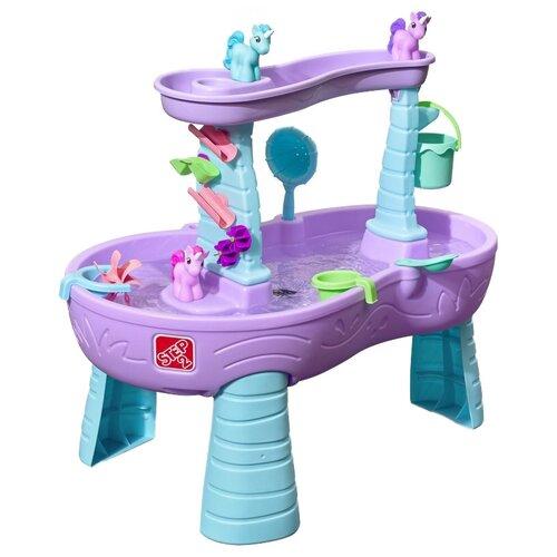 Песочница-столик Step2 Страна единорогов 487299, 61х99.1 см, фиолетовый/голубой