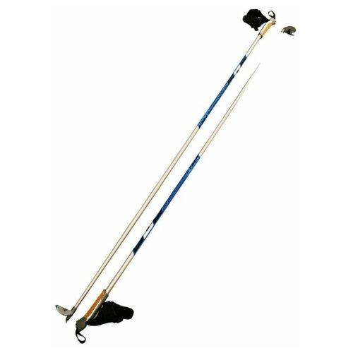Фото - Лыжные палки STC Cyber серебристый/синий 170 лыжные палки stc алюминий с твердосплавным наконечником stc 170 170 см