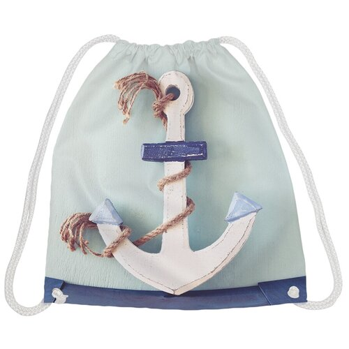 JoyArty Рюкзак-мешок Канат на якоре bpa_7081, голубой joyarty рюкзак мешок радужные окошки bpa 207087 голубой