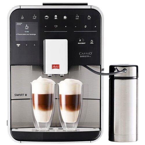 Кофемашина Melitta Caffeo Barista TS Smart SST, нержавеющая сталь кофемашина melitta caffeo barista ts smart нержавеющая сталь f 860 100