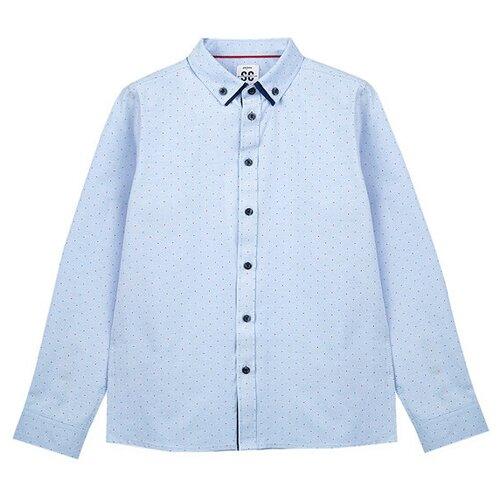 Рубашка playToday размер 140, голубой