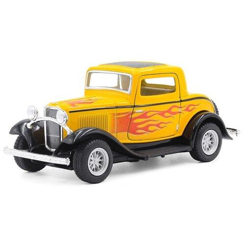 Купить Легковой автомобиль Serinity Toys Ford купе (5332DFKT) 1:32, 14 см, желтый, Машинки и техника
