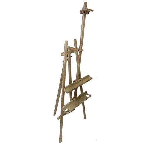 Купить Мольберт художественный напольный Лира с регулируемой по углу наклона верхней планкой, Художник, Доски и мольберты