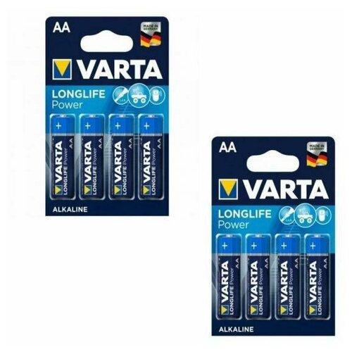 Фото - Набор из 8 батареек VARTA Longlife Power Alkaline AA аккумуляторы типа aa varta longlife комплект 4 штуки 2100mah