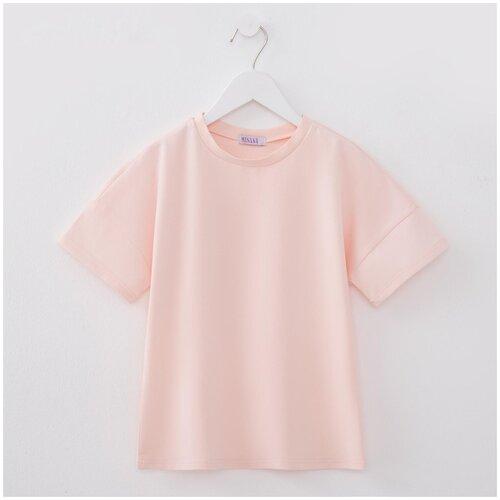 Купить Футболка Minaku, размер 116, светло-розовый, Футболки и майки