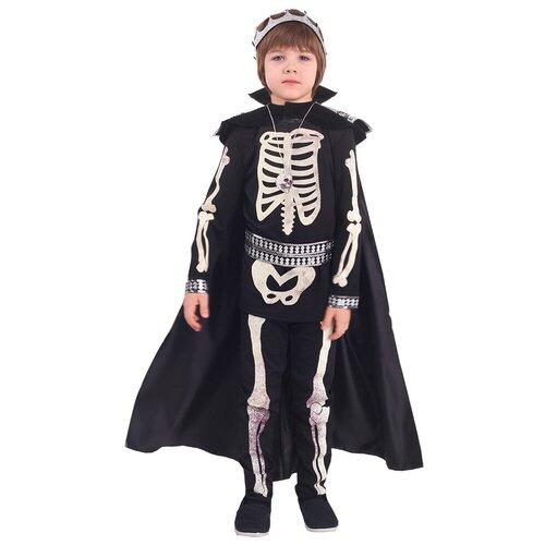 Купить Костюм пуговка Кощей (2013 к-18), черный/белый, размер 116, Карнавальные костюмы