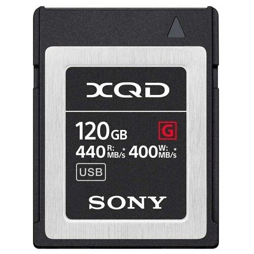 Фото - Карта памяти XQD Sony QDG*F 120 GB, чтение: 440 MB/s, запись: 400 MB/s карта памяти sony qdg 64 gb чтение 400 mb s запись 350 mb s
