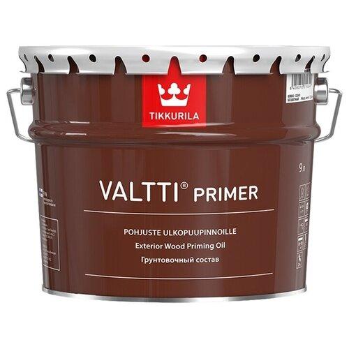 Грунтовка-антисептик по дереву Tikkurila Valtti Primer с маслом 9л. alpina грунтовка по дереву лессирующий антисептик 10л