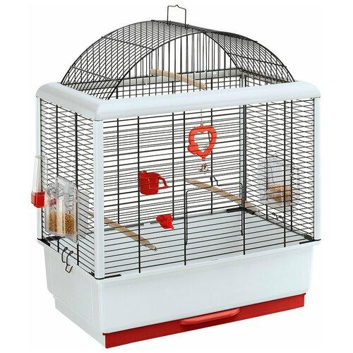 Клетка для птиц Ferplast Palladio 3 черная 50 х 30 х 64 см (1 шт) туннель для автоматической двери ferplast swing 3 5 16 3 х 5 х 18 4 см белый
